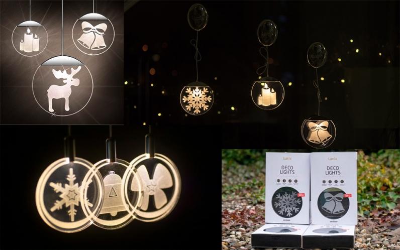 Елочные украшения с подсветкой Krinner Deco Light